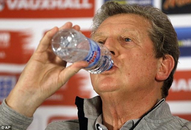Keeping cool: Hodgson spoke of his pride at managing England at a World Cup
