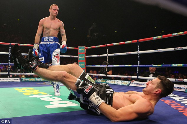 Shock start: Groves knocked Froch down in their first fight and dominated the opening stages