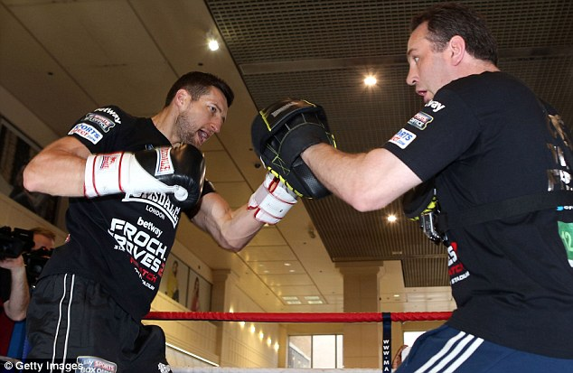 On the money: Froch has cut no corners in his preparation for his rematch with Groves