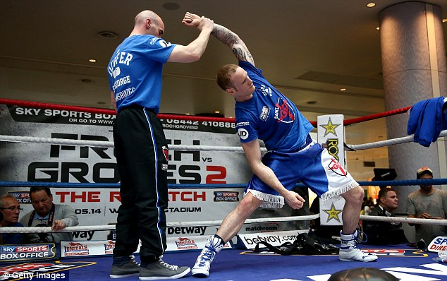 No stone left unturned: Groves stretches after a public workout in west London earlier this week
