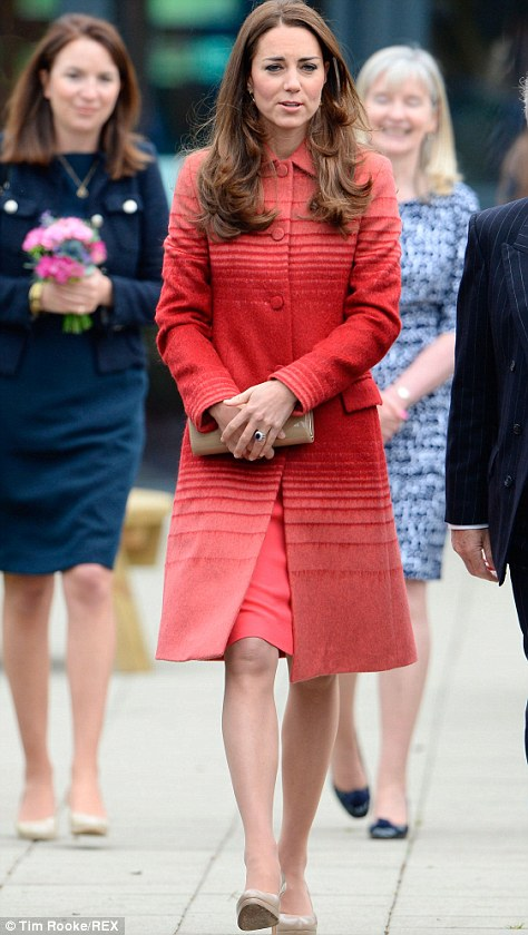 The Duchess of Cambridge and Prince William are visiting the Strathearn Community Campus in Crieff, Scotland in their first official engagement since return from the royal tour of Australia and New Zealand