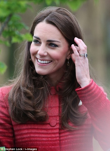 Princess Charming: Kate seemed pleased to be out and about once again