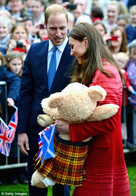 Jealous? William seemed envious of Kate's teddy bear