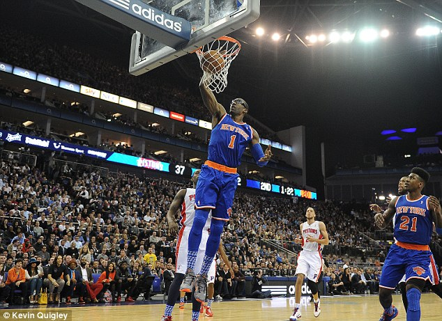 Return: The New York Knicks will be back in London when they take on the Milwaukee Bucks