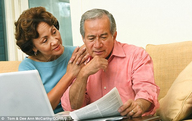 Planning ahead: Just a fifth of people are meeting savings targets for their pension, a report found (file photo)