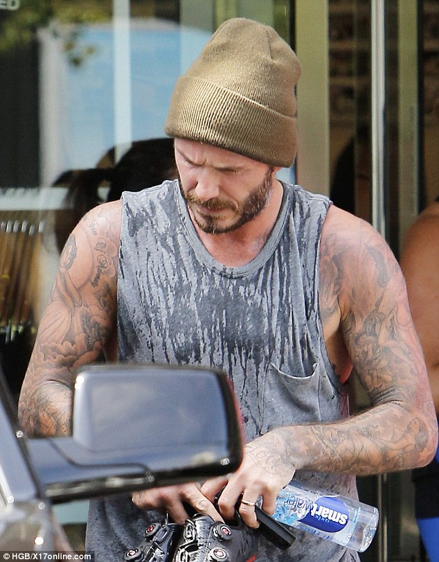 Dedicated: He has been hitting the trendy gym almost every day