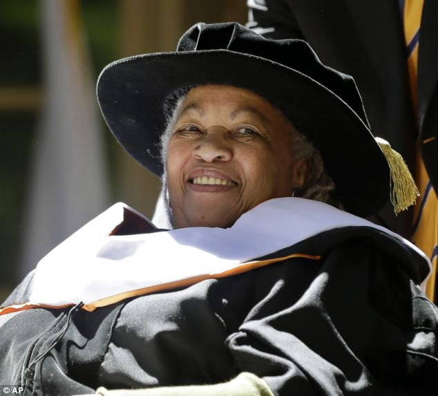 Critic: Nobel Prize-winning writer Toni Morrison, pictured last year, said it was wrong to divide literature into 'nationalistic categories'. She said Mr Gove would regret the decision