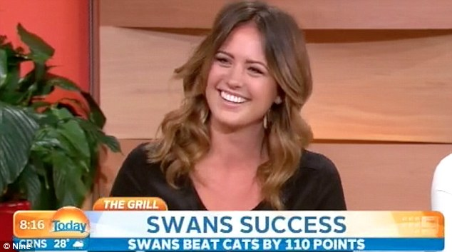 'He's still got a long way to go when it comes to driving!' Jesinta Campbell has revealed her boyfriend Lance 'Buddy' Franklin will not be getting behind of her new car after he crashed her Jeep last month