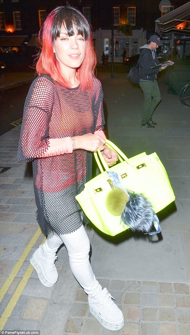 All of the lights: Lily was has been spotted wearing the LED buffalo trainers out and a about for weeks