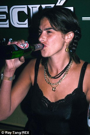 Boozy: Tracey Emin couldn't be trusted to accept the Turner Prize without swearing