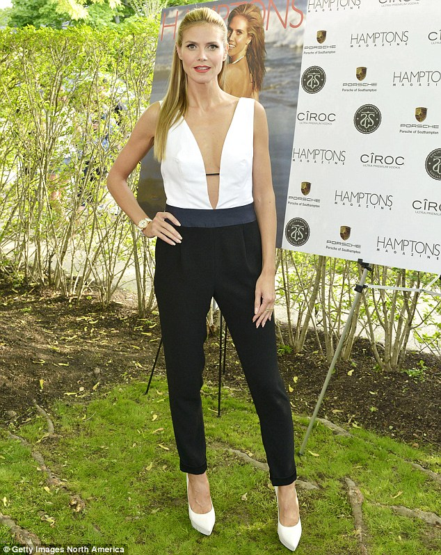 Natural beauty: Heidi insisted that she hasn't had any cosmetic work done to enhance her features or figure; the stunner wowed again at a party celebrating her Hamptons Magazine cover on May 24