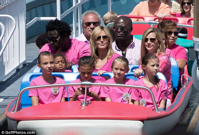 Super mom: Heidi showed that she and ex-husband Seal are on the same boat where co-parenting is concerned during a trip to Disneyland with their children on Wednesday