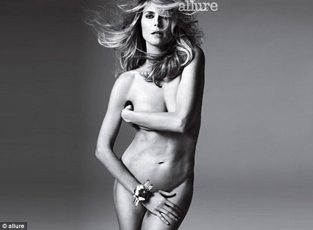 No problem with nudity: The supermodel showed off her super toned and totally naked body for Allure magazine's May 2012 issue