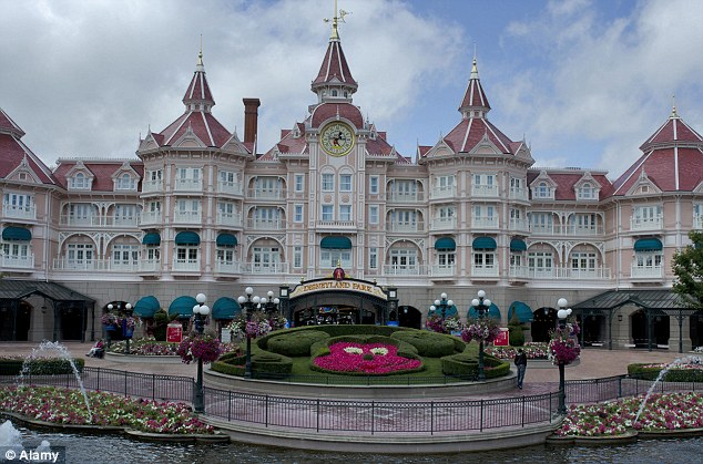 Rip off: For a four-night stay at the Disneyland Hotel, customers are being charged £500 more when using the UK site. The deals include meals, park entry and accommodation
