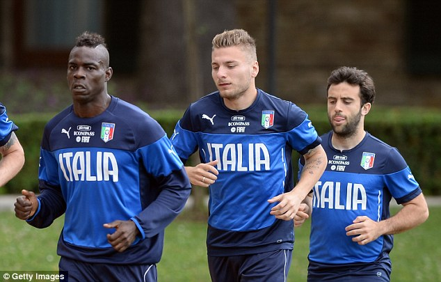 Stepping up: Ciro Immobile (centre) earned himself a place in Italy's provisional World Cup squad after 22 goals for Torino last season