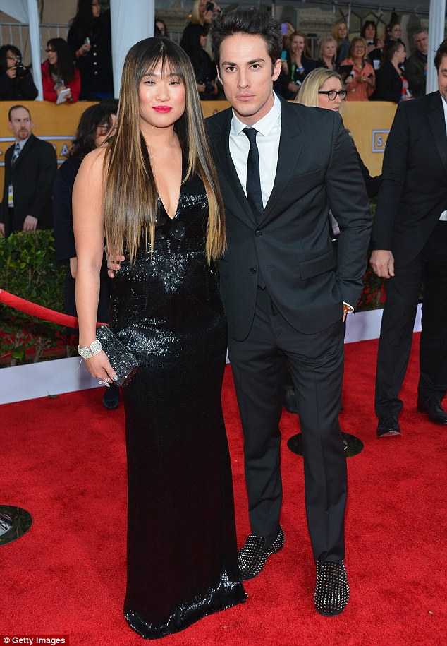 It's over! Jenna Ushkowitz and Michael Trevino - seen here at the at the 19th Annual Screen Actors Guild Awards last year - have split after three years of dating