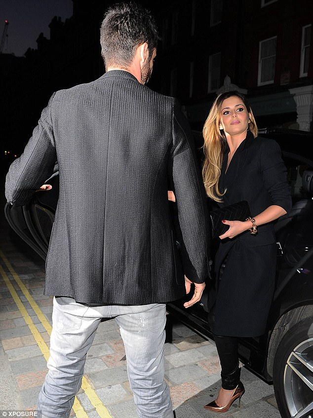 Here's Cheryl: The Geordie songstress makes her presence felt outside the venue