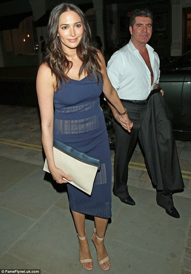 Hungry work: Cowell and Silverman are amongst the latest stars to make an appearance at the Chiltern Firehouse