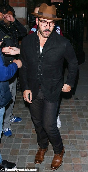 Mr. Selfridge: Jeremy Piven was also amongst the guests to attend the popular celebrity haunt on Friday evening