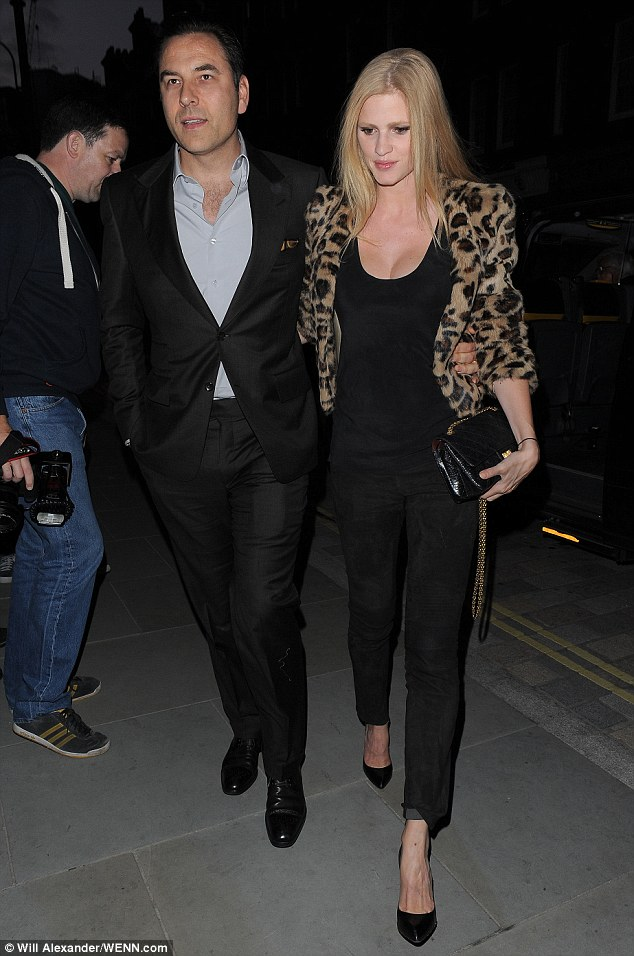 Room for two more? Britain's Got Talent judge David Walliams arrives with model wife Lara Stone