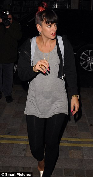 There's just no keeping her in: It's another night out for Lily Allen, who was also spotted at the Chiltern Firehouse on Friday evening