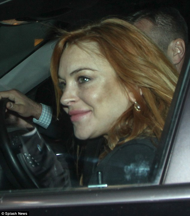Favourite spot: Lindsay has been seen leaving the Chiltern Firehouse multiple times over the past several weeks