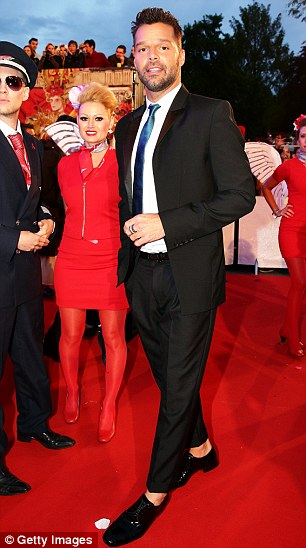 Livin' La Vida Loca: Ricky Martin arrives for the annual event in Vienna on Saturday evening