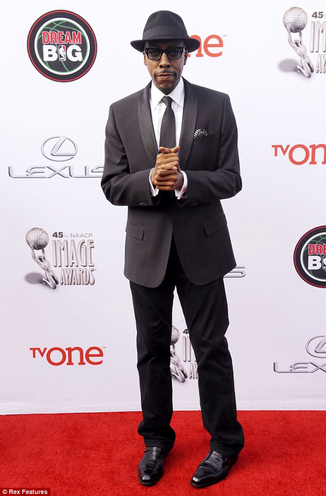 Grateful: Hall - who appeared at the 45th NAACP Image Awards in February - thanked his staff for supporting him during his show's run
