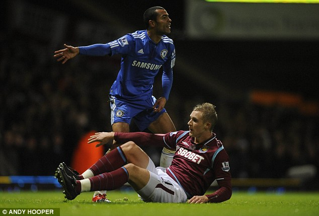 Committed: Collison made 121 appearances for the Hammers over nine years, scoring 14 goals