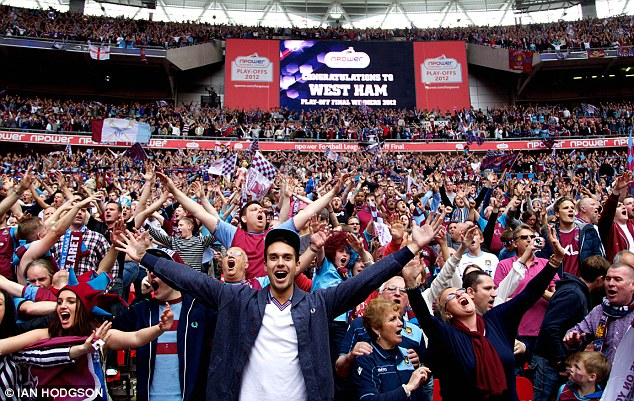 Praise: Collison paid tribute to the 'West Ham family', including talking of his pride at promotion in 2012