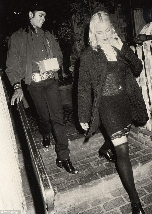 Quite the match: Michael and Madonna seemed to enjoy each other's company, seen out together in 1990 in Los Angeles