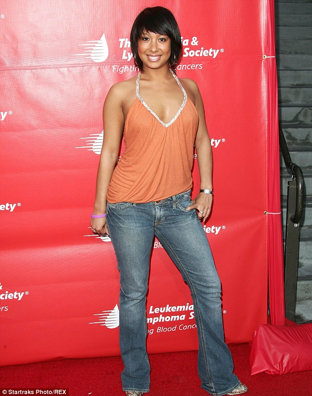 'I fluctuate': Cheryl Burke, pictured here in 2006, took to Facebook on Saturday to tell people her thoughts on any criticism about her weight loss