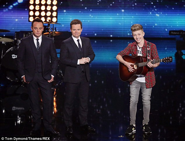 Missed out: Singer/songwriter Bailey McConnell, here with hosts Ant & Dec, missed out on the last place ahead of the final