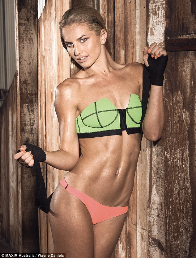 Sultry and sporty! Instagram isn't the only place she's shown off her impressive physique, as the knockout recently posed for Maxim Magazine
