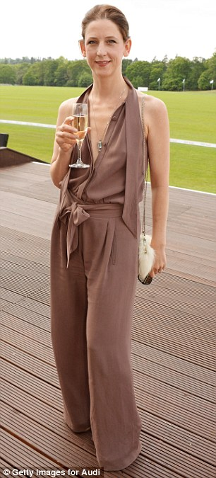 Stylish actress Catherine Steadman wears a multi-coloured slash necked dress while Maria Grachvogel opts for a light brown jumpsuit