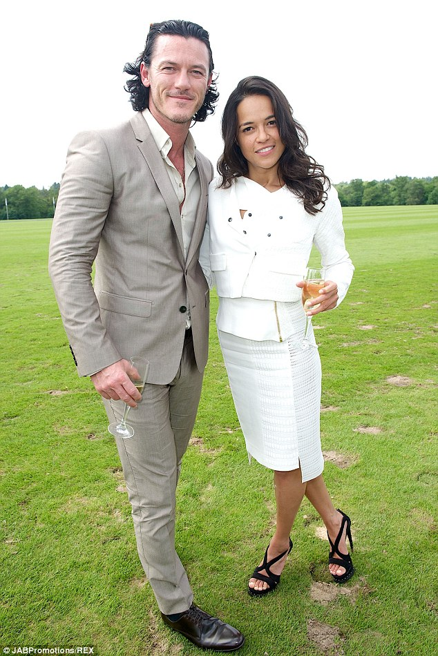 Shaw and Letty: Luke Evans and Michelle Rodriguez reunite at the Audi Polo Challenge