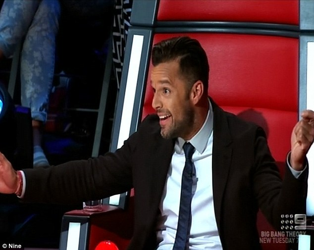 Second season: Ricky has revitalised his career in Australia thanks to his stint on The Voice Australia