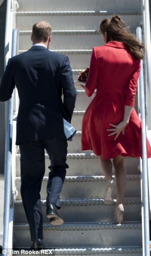 The Duchess of Cambridge's flirty skirts are always flying heavenwards to reveal honed racehorse pins