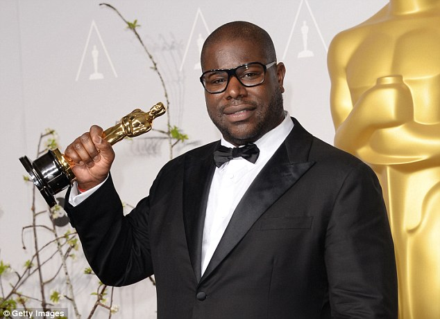 Win: Director Steve McQueen, winner of Best Picture for 12 Years a Slave  poses with his Academy Award
