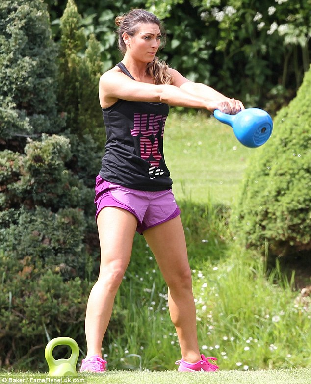 Swing: Luisa was clearly keen to also work on her arms and was seen doing weights