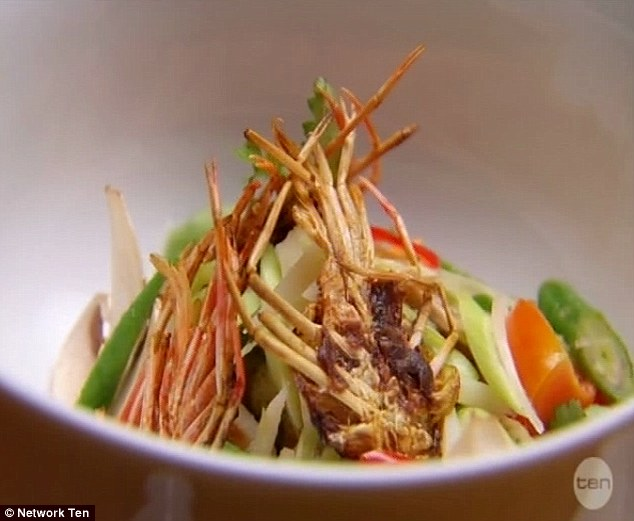 Thai Prawn Broth: Her meal was called Michelin star worthy from the MasterChefs