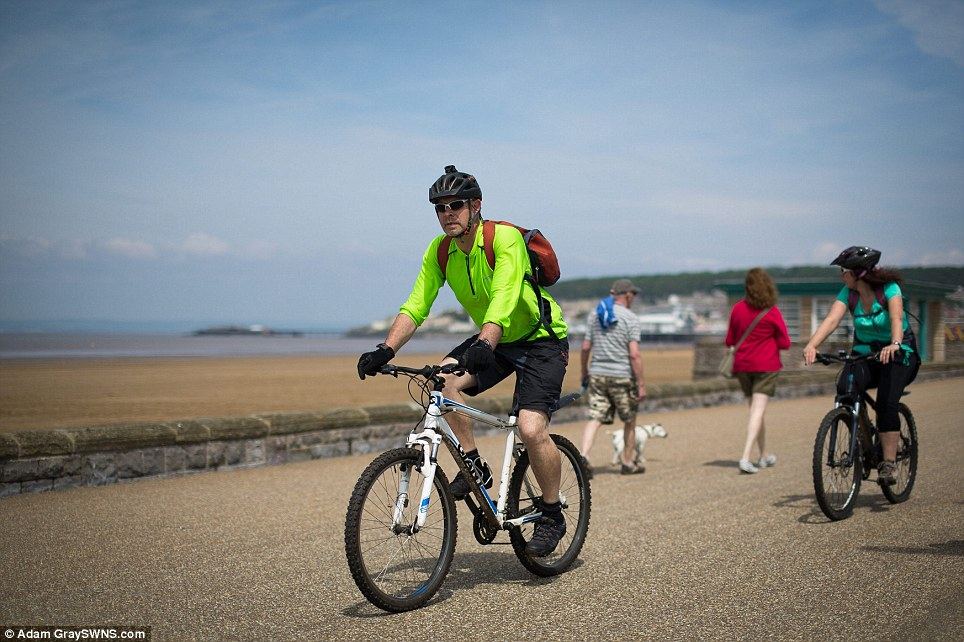 Weston-super-Mare: The Met Office - which has no severe weather warnings in place this week - said yesterday was the start of summer in the meteorological calendar