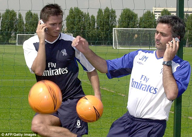 Special bond: Frank Lampard and Jose Mourinho first worked together back in 2004