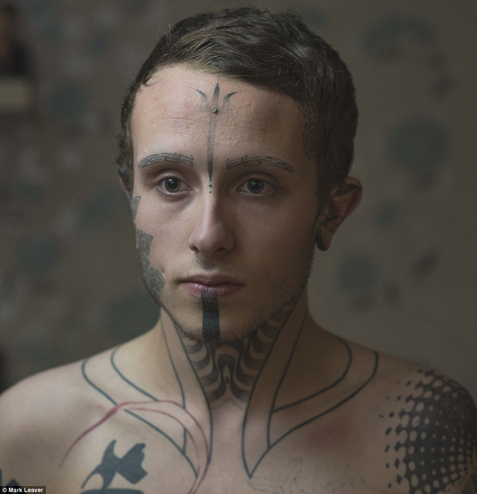 Jack Denny, 20, had his eyebrows tattooed on at age 18 and wants his eyeballs tattooed next