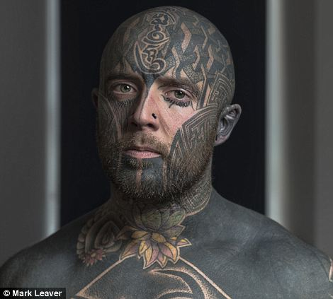 Please link to Mark Leaver's Website: www.mdleaver.com  Cammy Stewart - 30 years old. He started getting tattooed at 15 and moved on to the face at 24 - ?It?s important to have a face in the tattoo industry?  Artist Statement: Tattooing is more popular at the moment than it has ever been in history. This is down to many things, one of the main being that tattooing is endorsed through celebrity culture as result making them fashionable.   However I wasn?t interested in the 1000?s of people with a sleeve or back piece which they cover up when they go to work. Its facial tattoos which grabbed me and the direct confrontational nature of them.     Historically facial tattoos have had a huge amount of taboos around them. People associate facial tattoos with a number of negative things including suicide rates, criminality and depression. This couldn?t be further from the case now. Facial tattoos now represent individuality, creativity, aesthetics, transformation and spirituality.