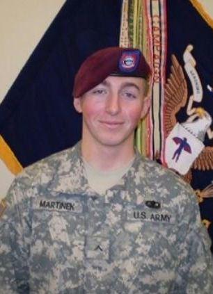Tragic: Pfc. Matthew M. Martinek died in the same incident as Lt Andrews