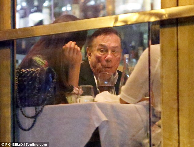 Mouthful: Donald Sterling enjoyed lobster with a trio of female friends Sunday