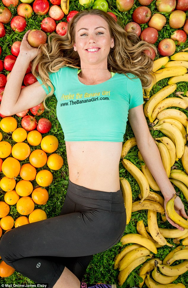 Freelee the Banana Girl claims that her incredibly lean figure and toned muscles can be attributed mainly to eating kilos of fruit or vegetables