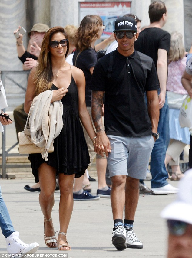 So in love: Holding hands, the couple barely left one another's side throughout the day