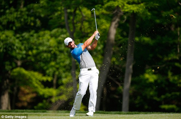 Leading the charge: Paul Casey was the highest placed Englishman, finishing tied for 13th on seven under